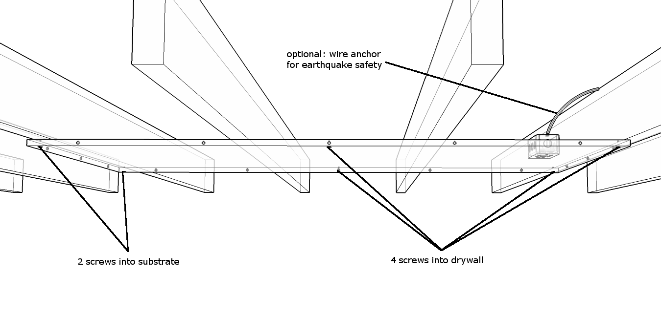 Installation Guidelines Ducoterra Electric Radiant Ceiling Heat Wire Diagram If Mounting Perpendicular To The Joists Perp